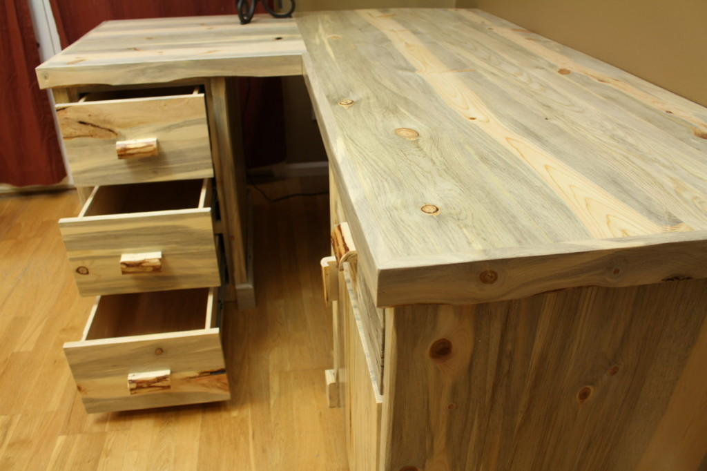 Blue Stain Beetle Kill Pine Desk