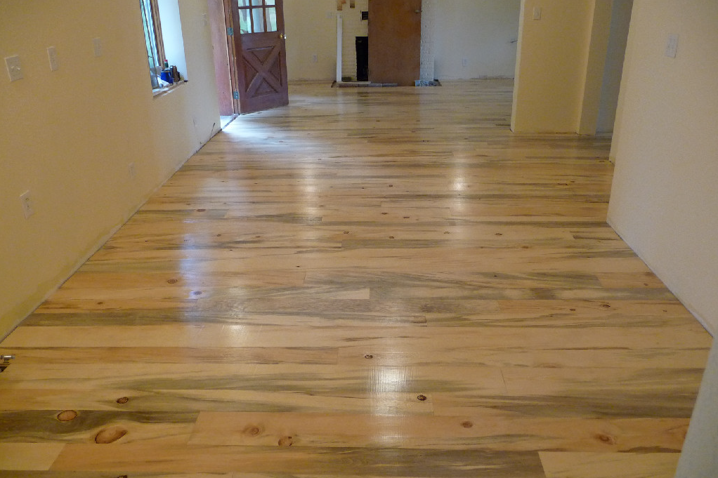 Blue Stain Pine Flooring Example