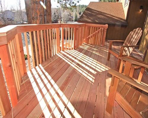 Redwood Decking Example 2 - Wood Decking