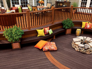 Create a backyard oasis on your deck with these easy steps for Evergrain decking vs trex