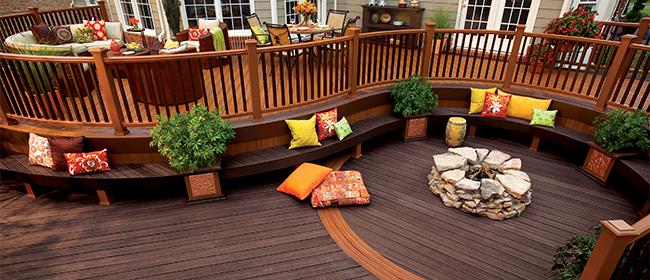 Decking materials mahogany vs evergrain for Redwood vs composite decking