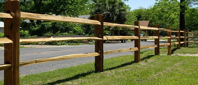 Split Rail Fencing Next to Road
