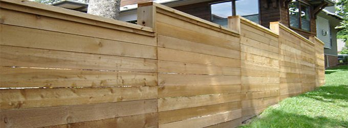 Horizontal Wooden Fencing