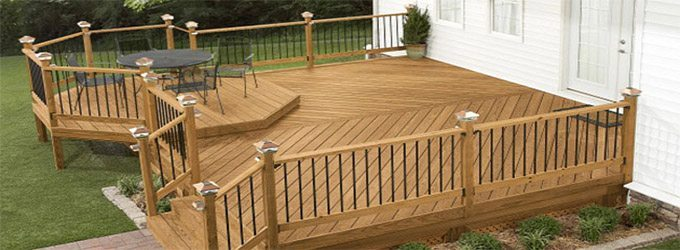 Large Wood Deck Attached to House