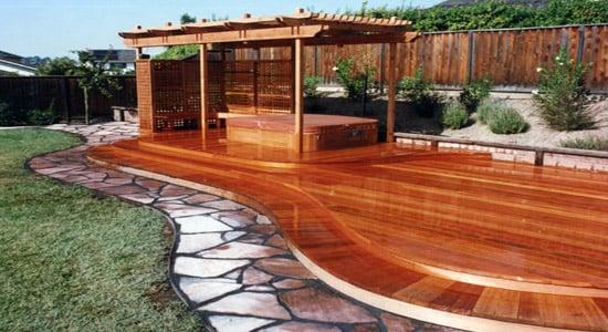 entablado de madera roja RMFP