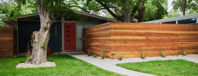 horizontal fence modern fence rocky mountain forest products