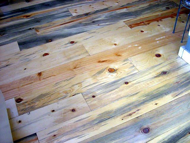 blue stain floor