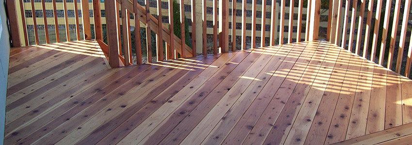 A cedar deck vs pressure treated vs composite choosing for Evergrain decking vs trex