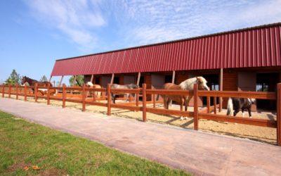 Equestrian Centers Use Split Rail Fence